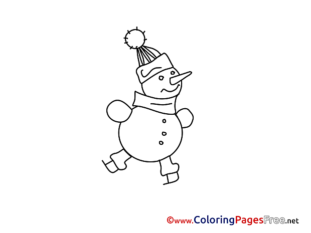 Snowman for Kids Advent Colouring Page