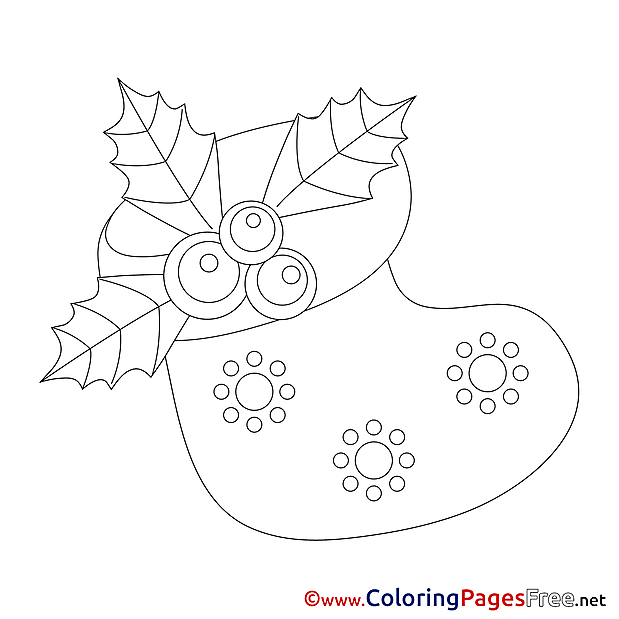 Sock Coloring Sheets Advent free