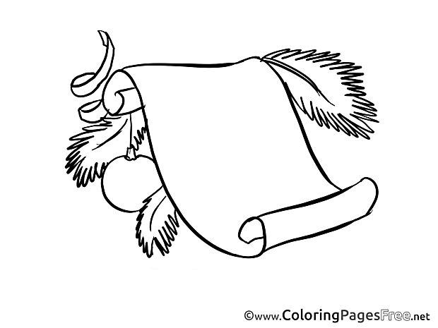 Wish List Colouring Page Advent free