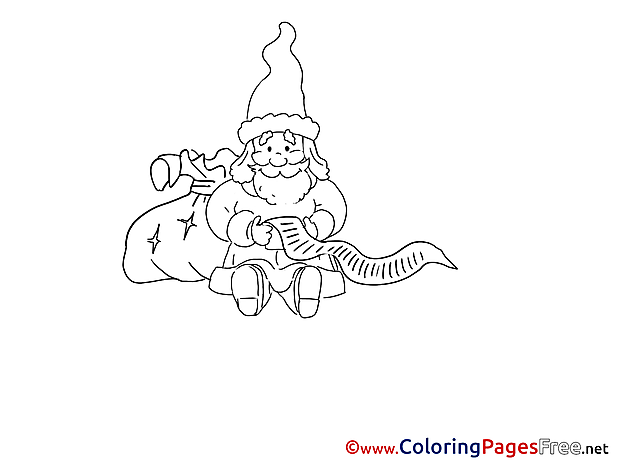Wish List free Advent Coloring Sheets