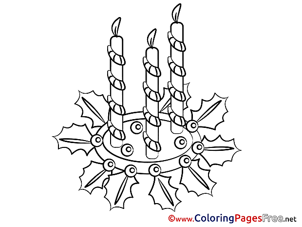 Xmas Advent free Coloring Pages