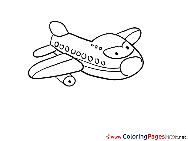 Children free Coloring Pages Airplane