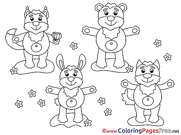 Animals printable Coloring Pages for free