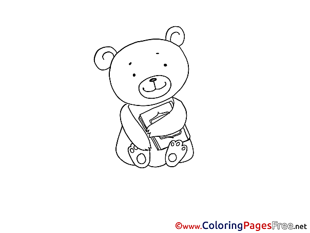 Bear Children download Colouring Page