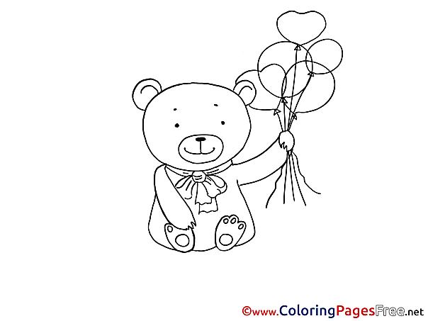 Bear for Children free Coloring Pages