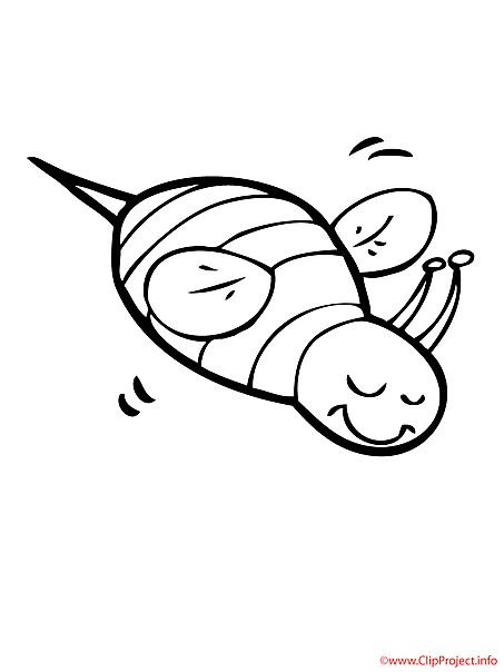Bee coloring picture for free