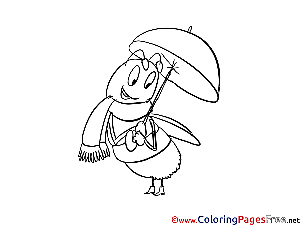 Bee Colouring Page printable free