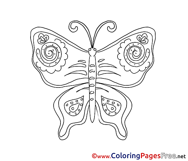 Butterfly Colouring Page printable free