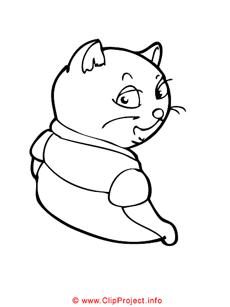 Cat coloring page free