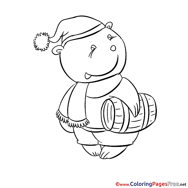 Colouring Sheet Bear download free