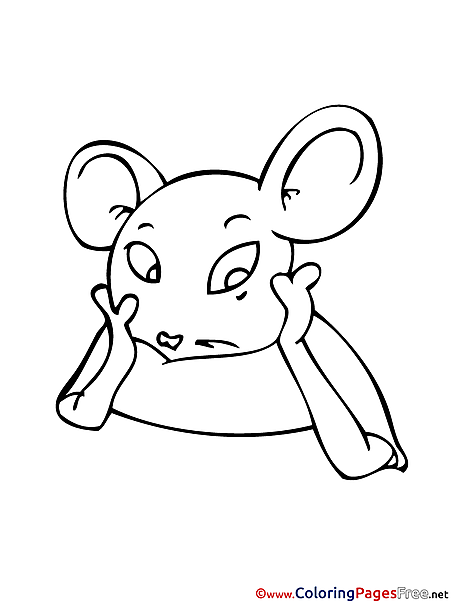 Colouring Sheet Mouse download free