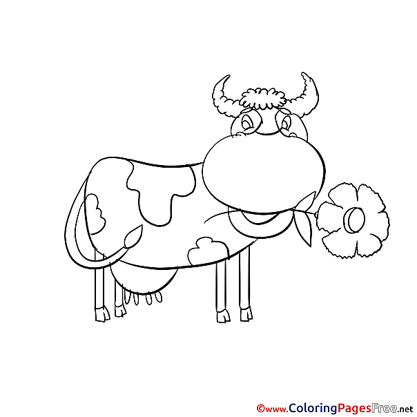 Cow Kids free Coloring Page