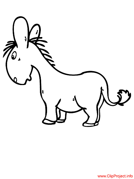 Donkey colouring sheet for free
