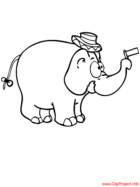 Elephant coloring sheet download for free