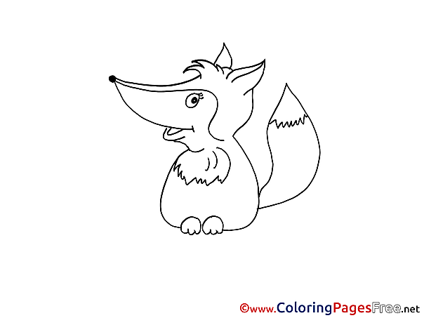 Fox free Colouring Page download