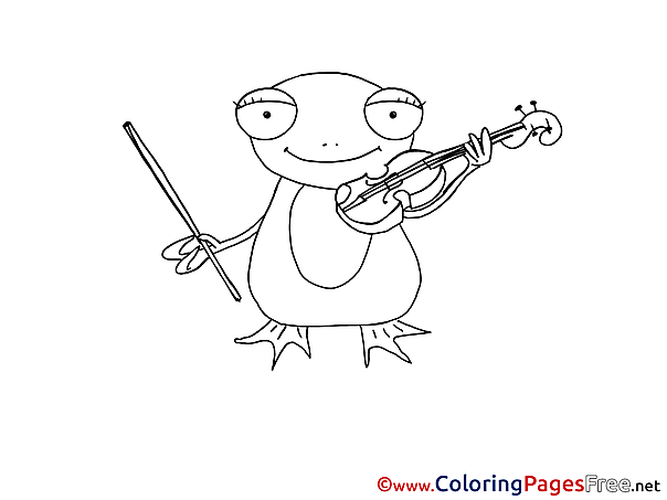 Frog Kids free Coloring Page