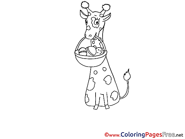 Giraffe Kids download Coloring Pages