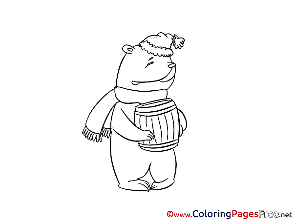 Honey for Kids printable Colouring Page