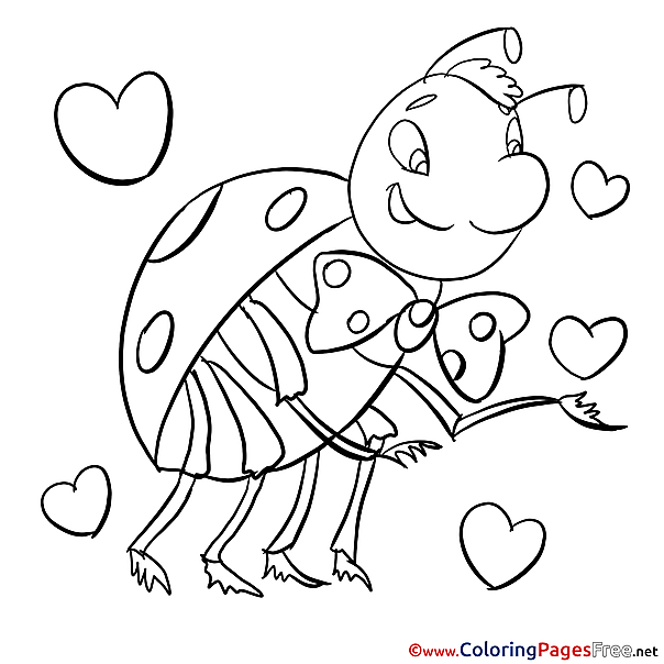 Ladybird download Colouring Sheet free