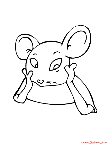 Mouse printable coloring page