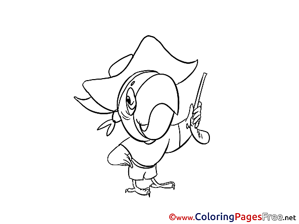 Parrot Coloring Pages for free