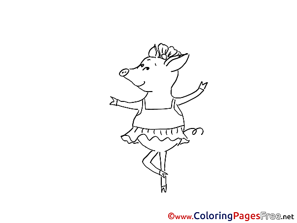 Pig for Children free Coloring Pages