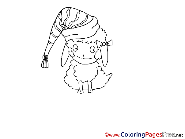 Printable Sheep Coloring Pages for free