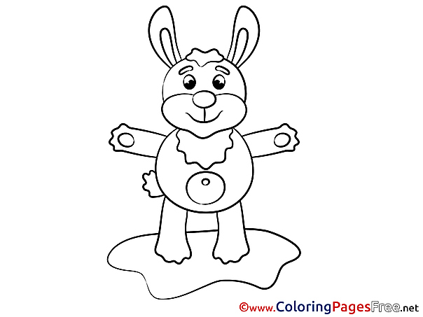 Rabbit for Kids printable Colouring Page