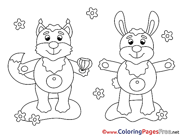 Squirrel free printable Coloring Sheets