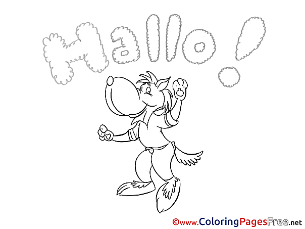 Wolf Kids free Coloring Page