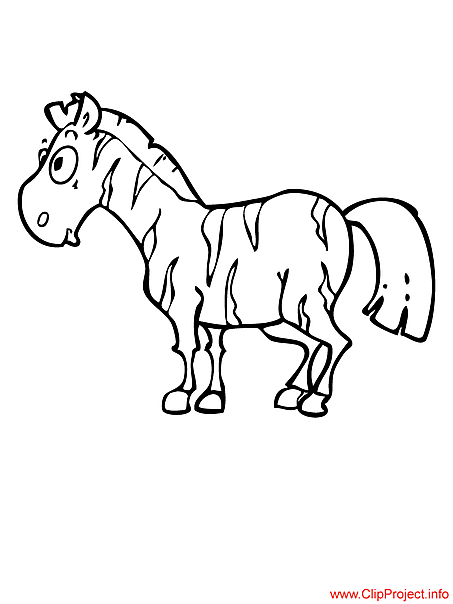 Zebra coloring page free