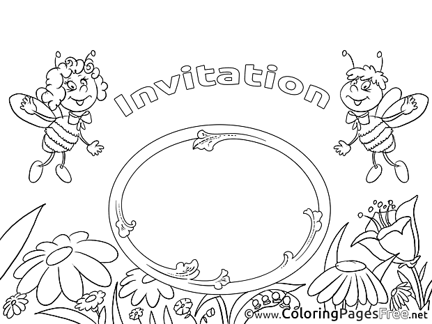 Bee Coloring Sheets Birthday free