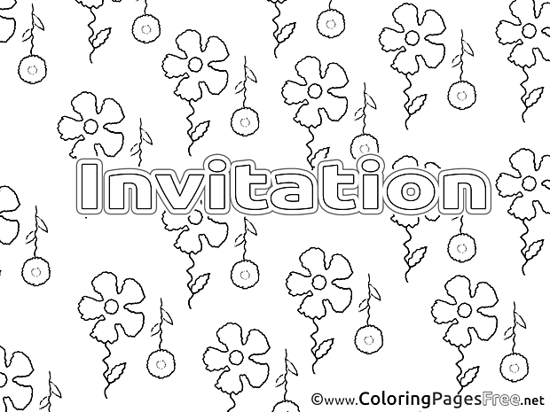 Colouring Page Birthday free