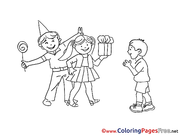 Download Birthday Coloring Pages