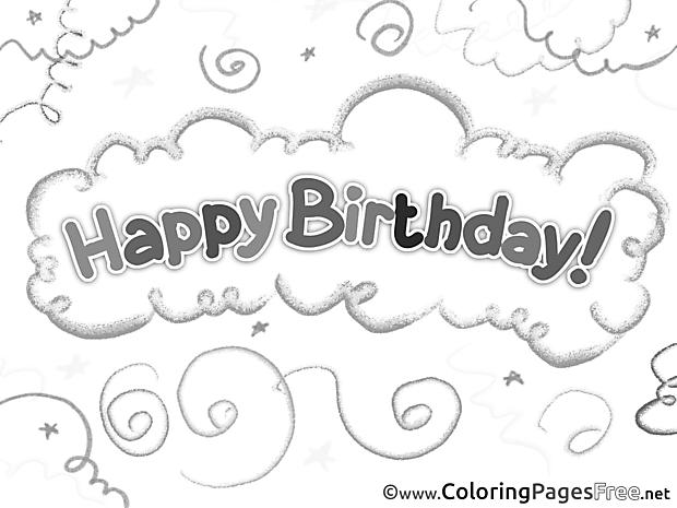 Happy Birthday printable Coloring Sheets
