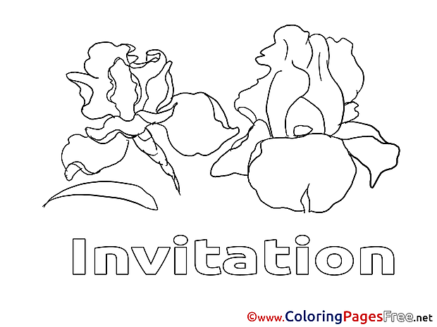 Invitation Coloring Pages Birthday