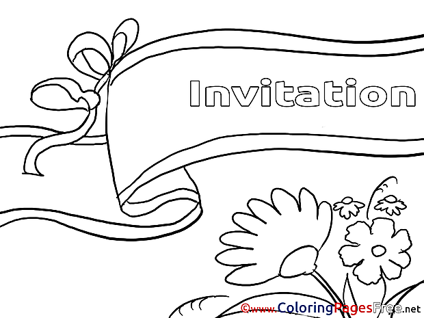 Invitation printable Birthday Coloring Sheets