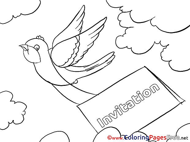 Parcel Birthday free Coloring Pages