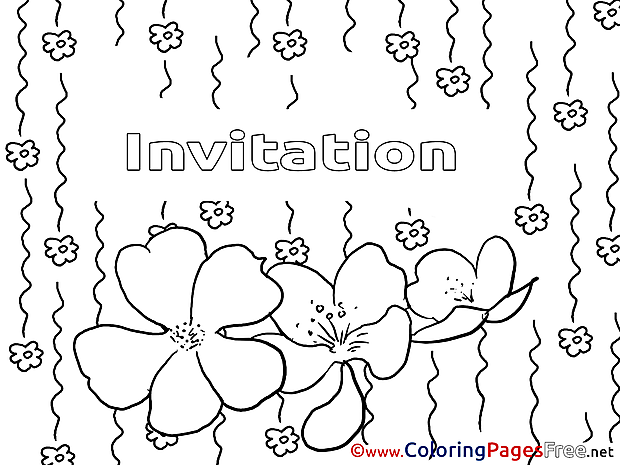 Summer for Kids Birthday Colouring Page