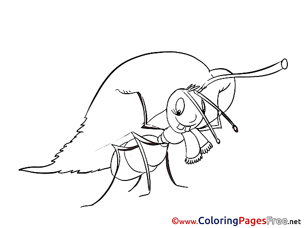 Ant Kids free Coloring Page