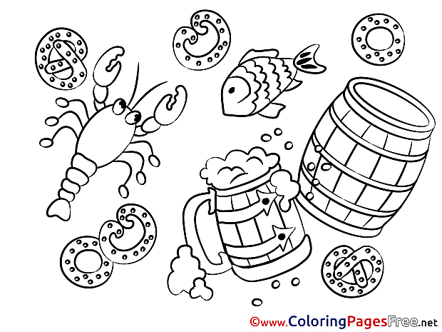 Crawfish Oktoberfest Coloring Sheets download free
