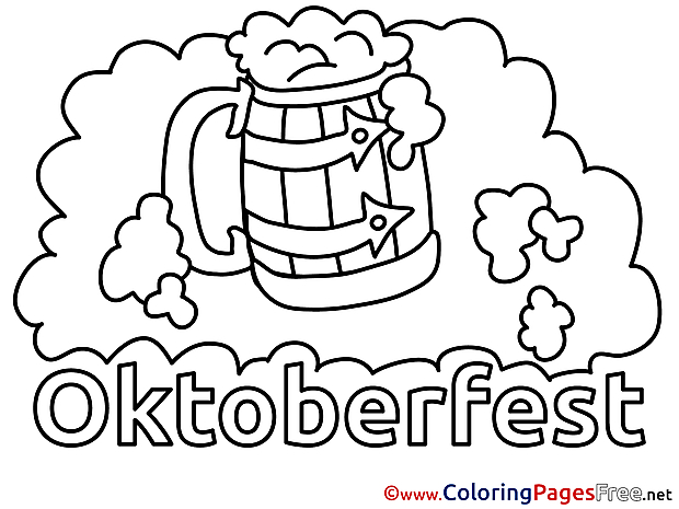 Foam Oktoberfest Coloring Pages for free