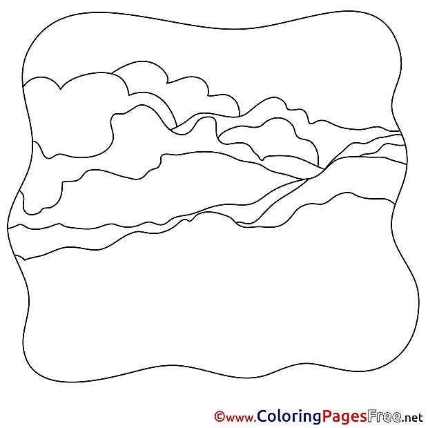 Hills free printable Coloring Sheets