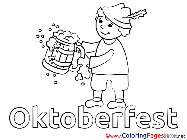 Human Oktoberfest printable Coloring Sheets