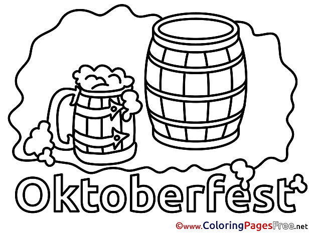 Mug Beer free printable Coloring Sheets