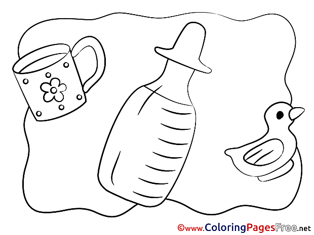 Bottle Kids free Coloring Page