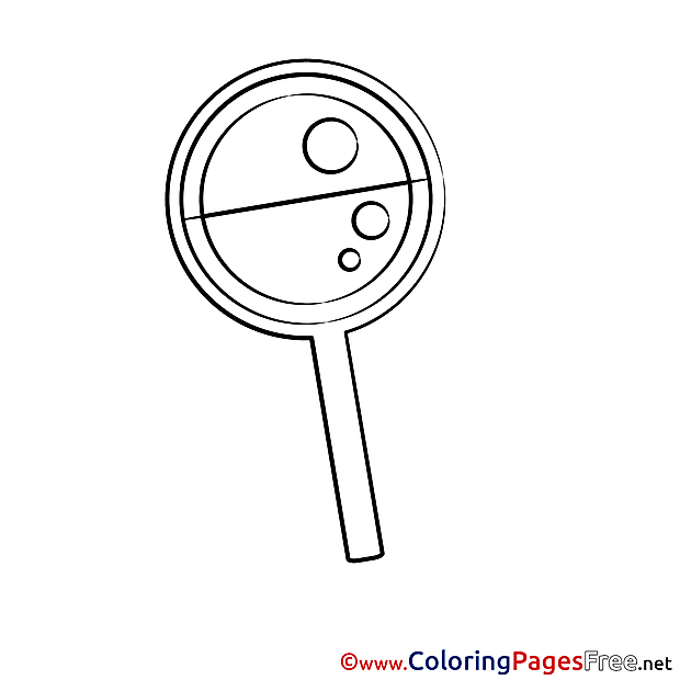 Lollipop free Colouring Page download