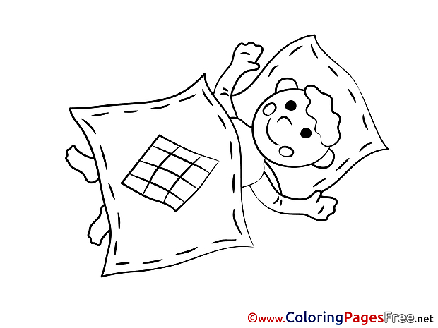 Pillow download Colouring Sheet free