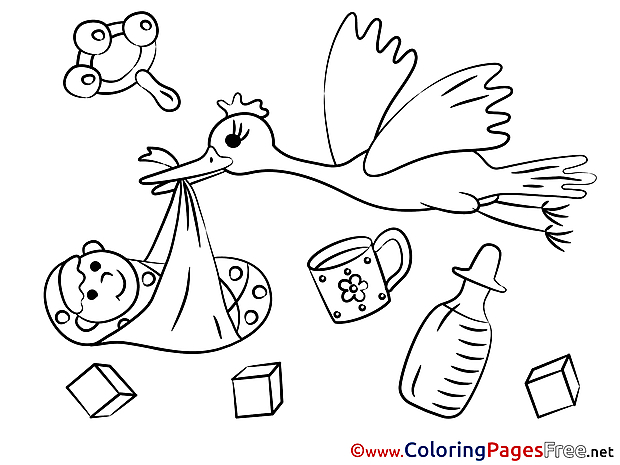Rattle for Children free Coloring Pages