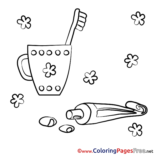 Toothpaste Colouring Sheet download free